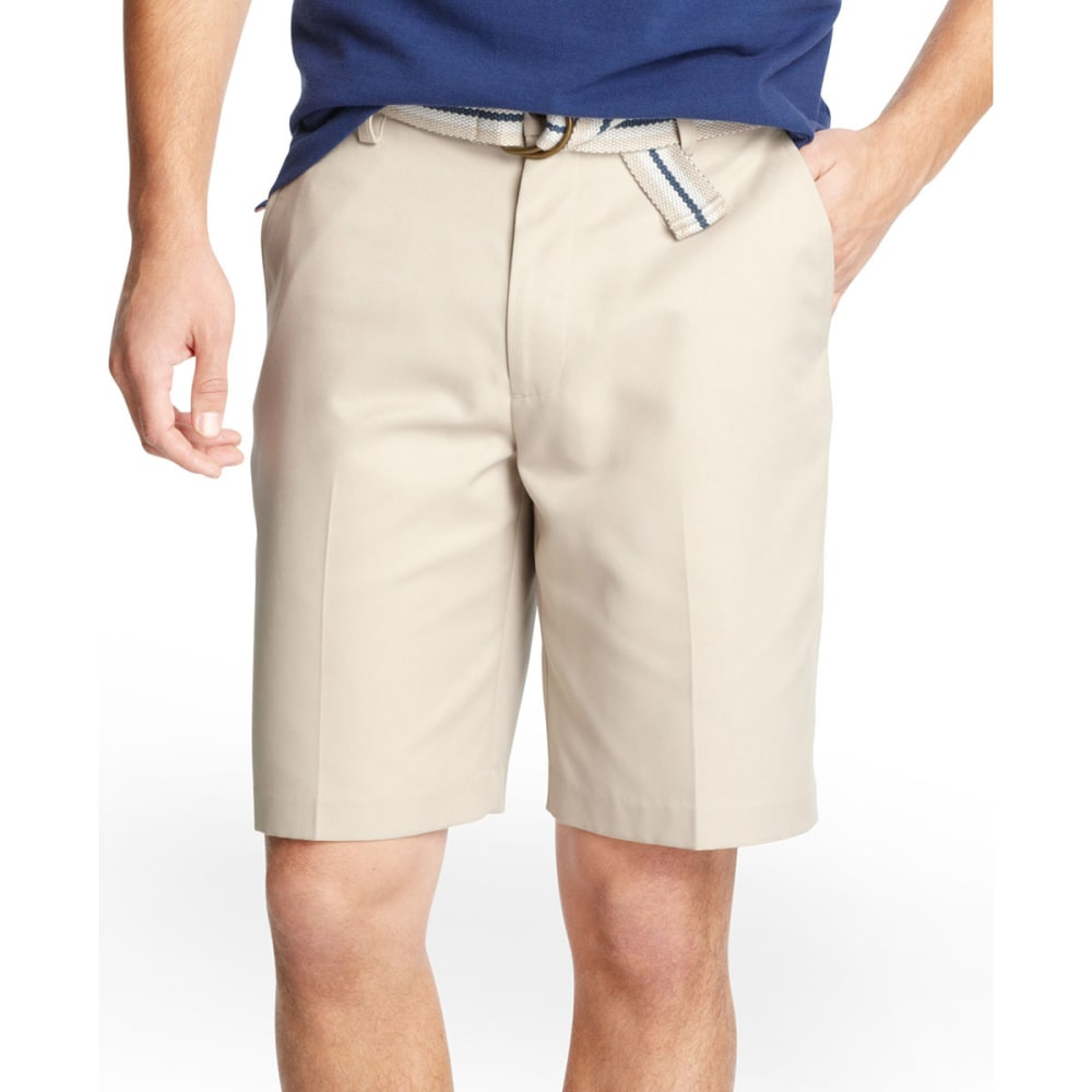 IZOD Men's Microfiber Khaki Shorts - BIRCH