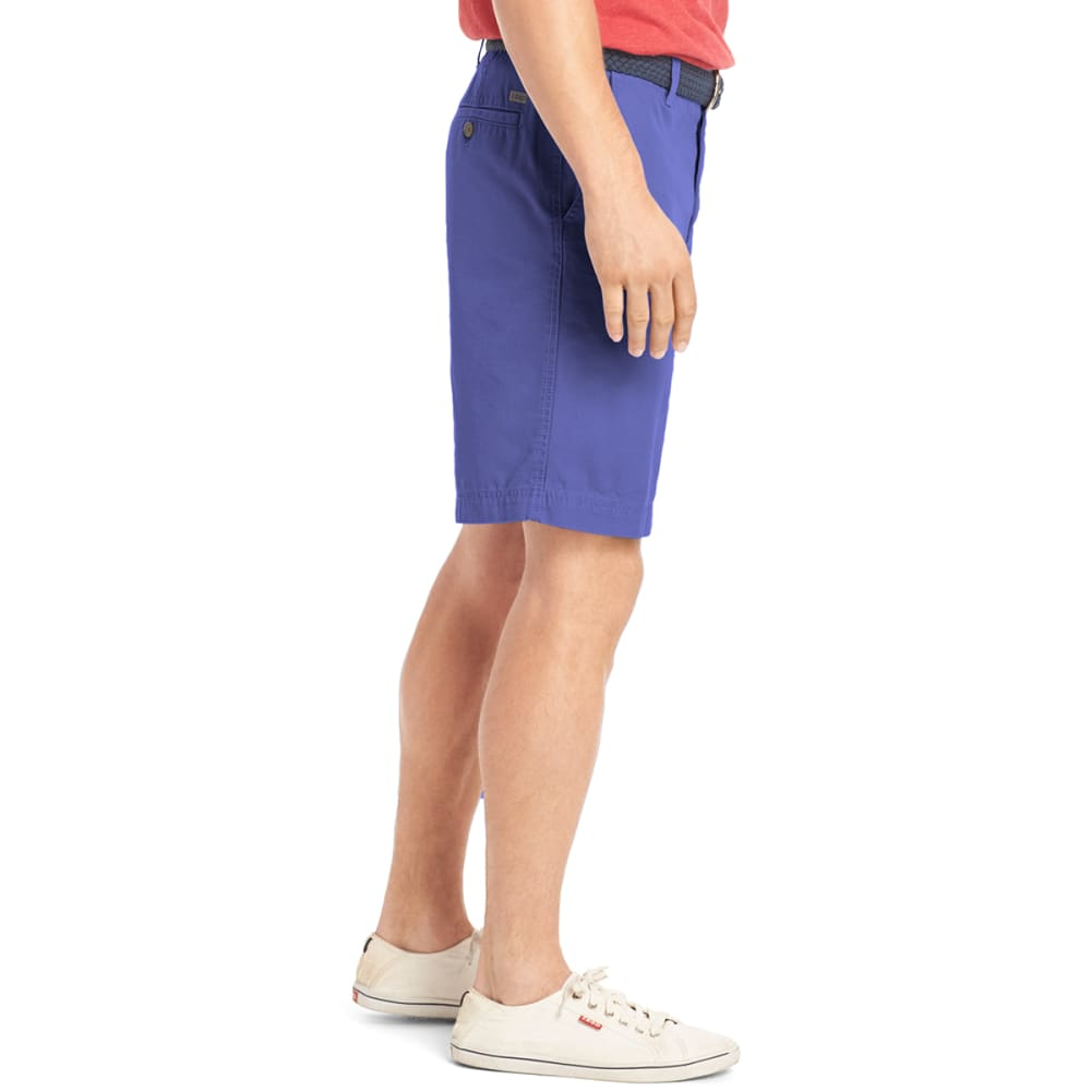 IZOD Men's Saltwater Washed Flat Front Shorts - 464-BLU REVIVAL