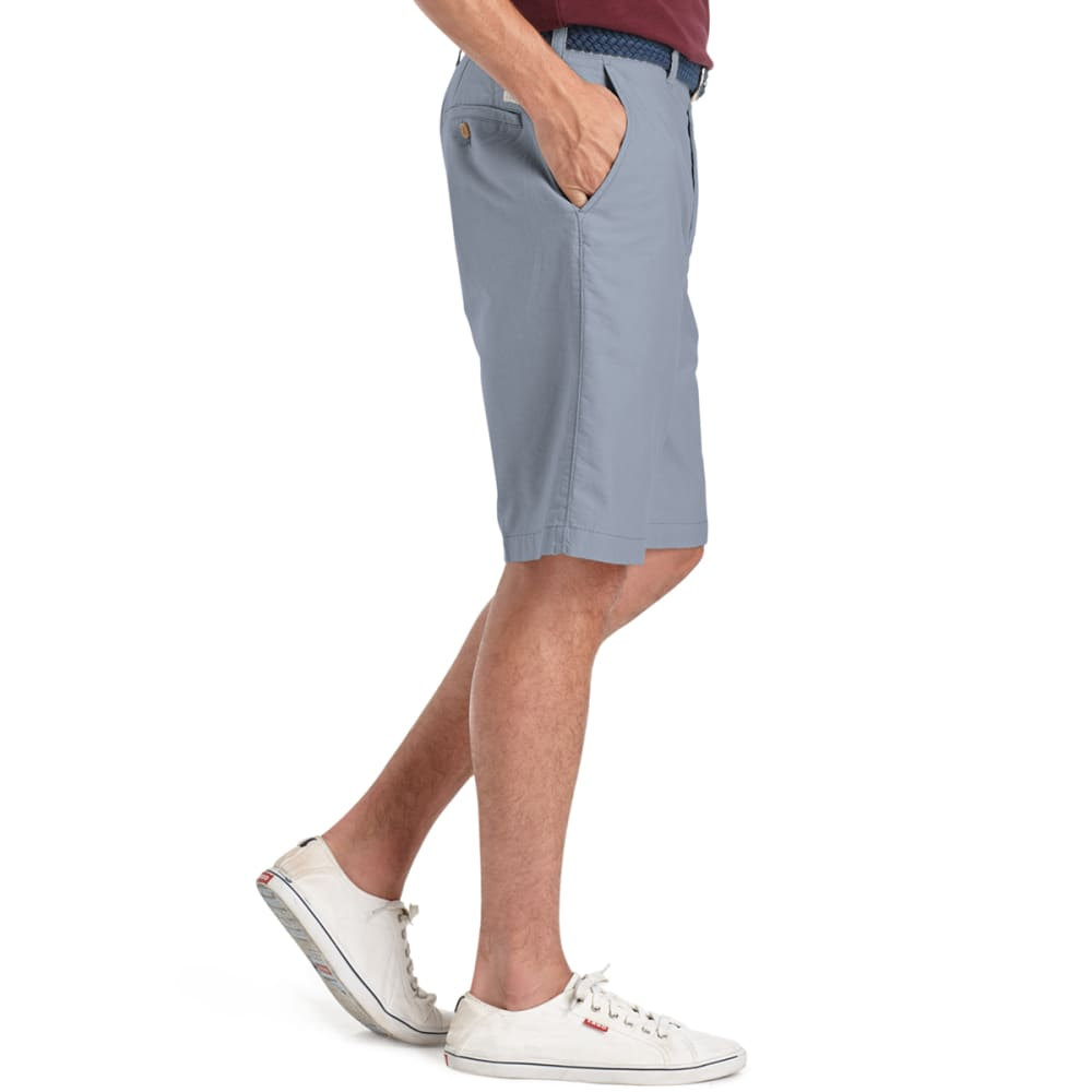 IZOD Men's Oxford Flat Front Shorts - NOON BLUE-408