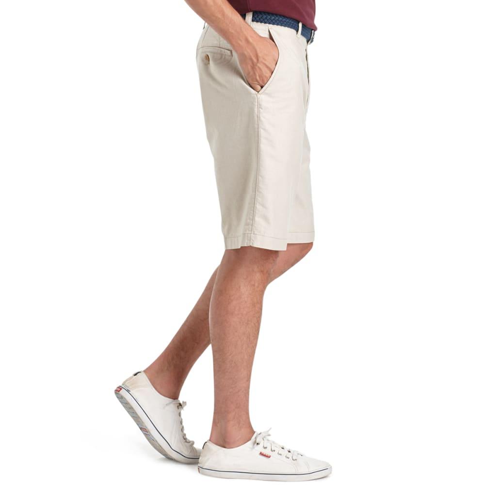 IZOD Men's Oxford Solid Flat Front Shorts - 261-CEDARWOOD KHA