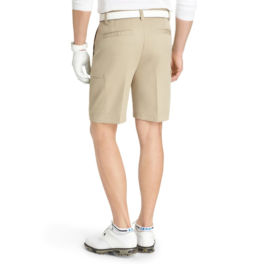 IZOD Men's Xfg Flat Front Cargo Shorts - KHAKI-921