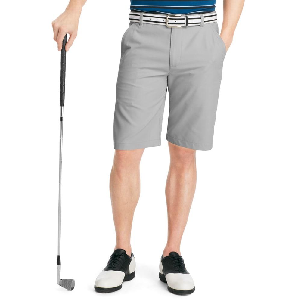 IZOD Men's XFG Flat Front Microfiber Golf Short - EBONY/FUSHIA-002