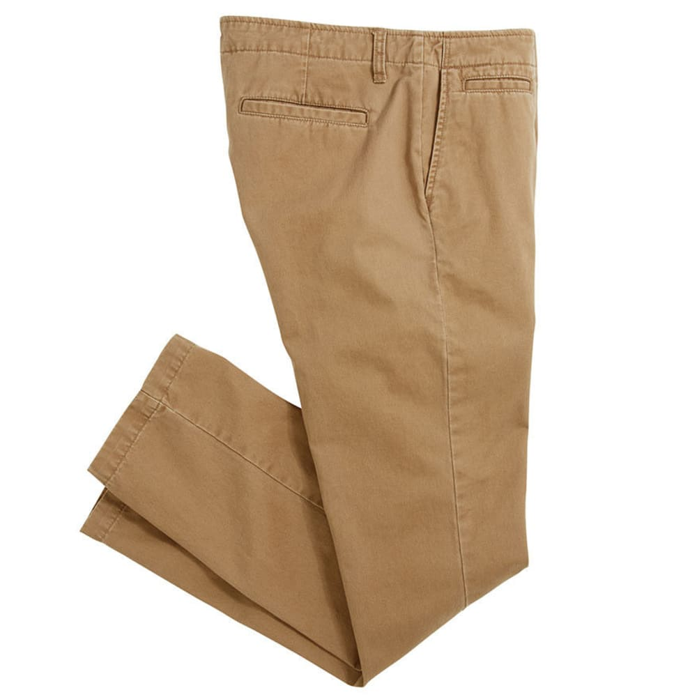 Crossfire Men's Slim Chino Flat Front With Extra Pocket  Value Deal - Brown, 26/32