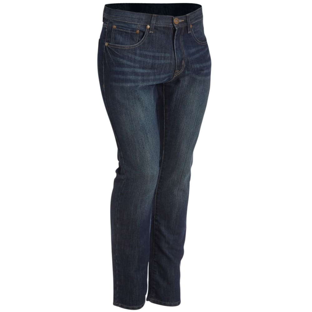 HOLLYWOOD DENIM Guys' Slim Straight Jeans - MEDIUM BLUE