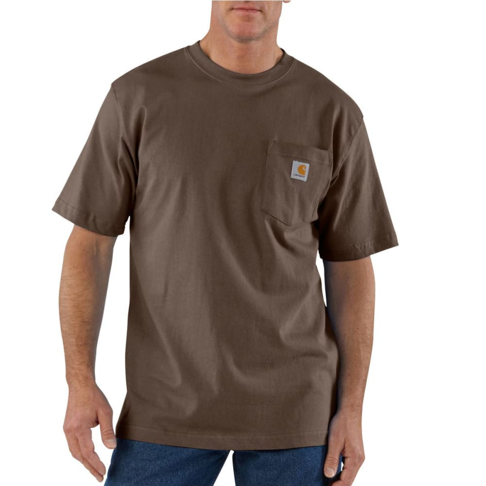 CARHARTT Men's Workwear Pocket Short-Sleeve Shirt - DKB DARK BROWN