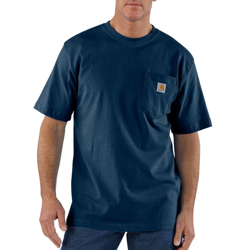 Carhartt Men's Workwear Pocket Shirt, S/s - Blue, M
