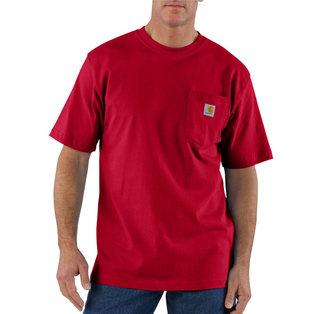 CARHARTT Men's Workwear Pocket Shirt, S/S - RED 600