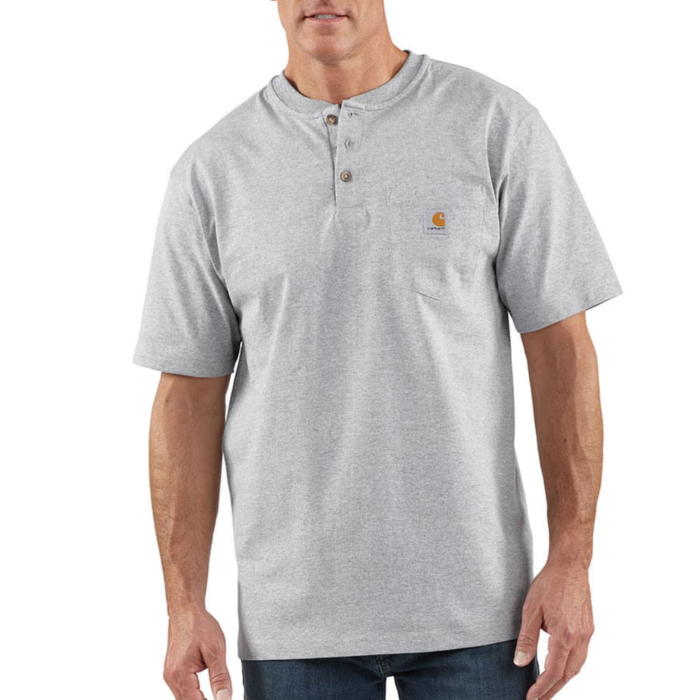 CARHARTT Men's Workwear Henley - HGY HEATHER GREY