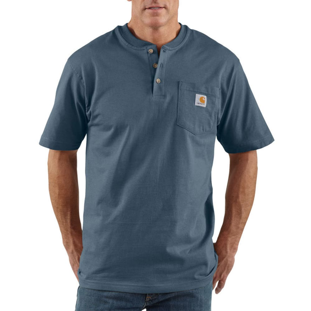 CARHARTT Men's Workwear Henley - BLS BLUESTONE