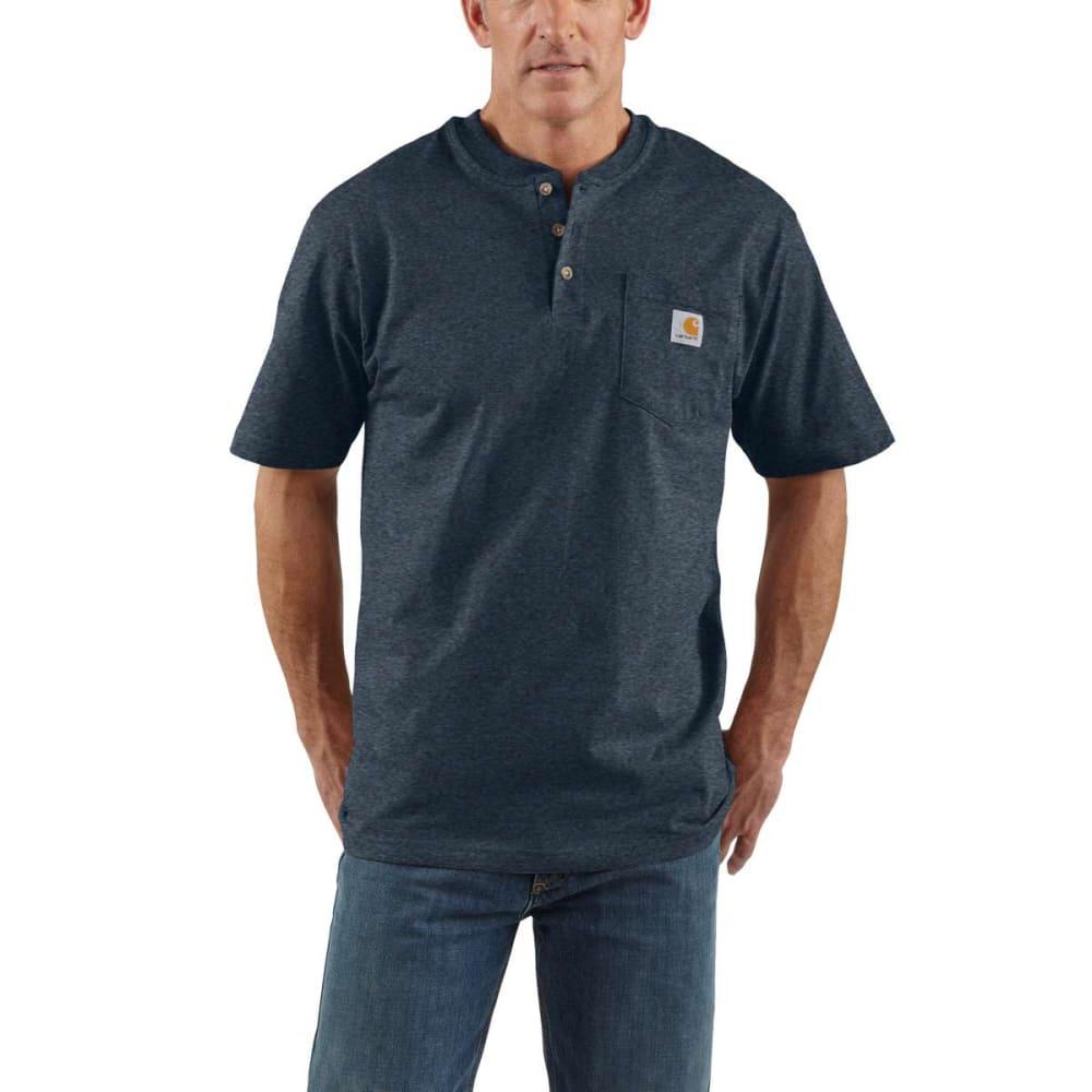 CARHARTT Men's Workwear Henley - DKCOBALTBL HTHR 413