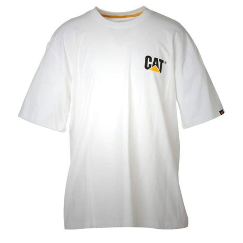 CAT Men's Trademark Tee - WHITE  049