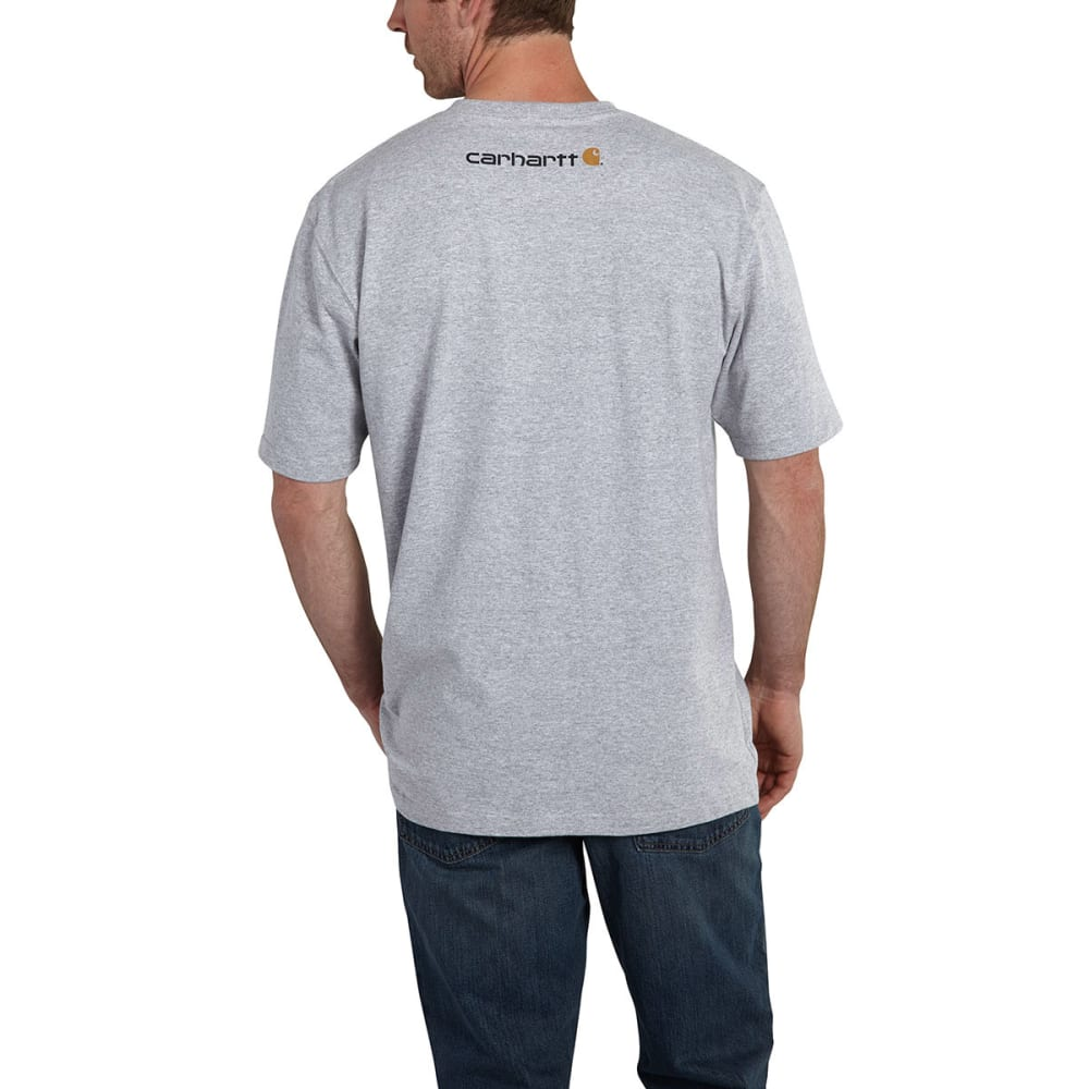 CARHARTT Men's Short Sleeve Logo Tee - HEATHER GREY HGY