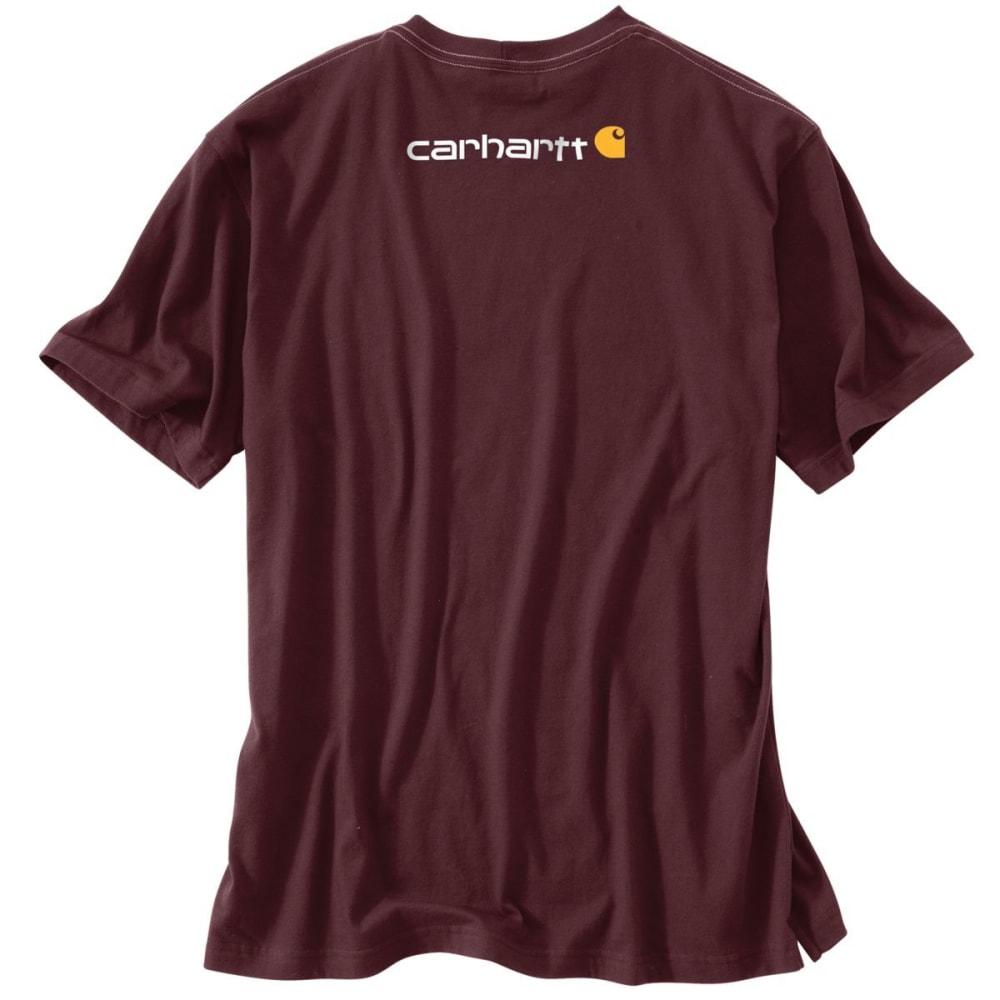 CARHARTT Men's Short Sleeve Logo Tee - PRT PORT