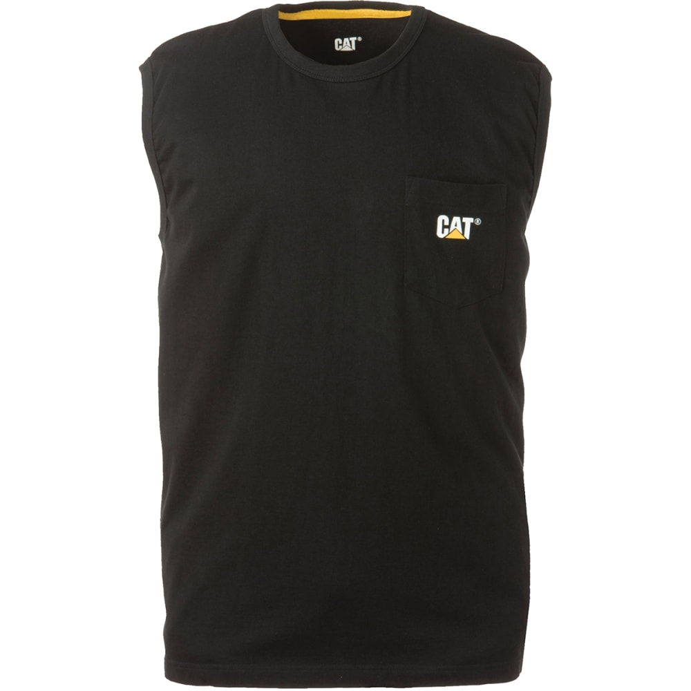 CATERPILLAR Men's Trademark Pocket Sleeveless Tee - 016 BLACK