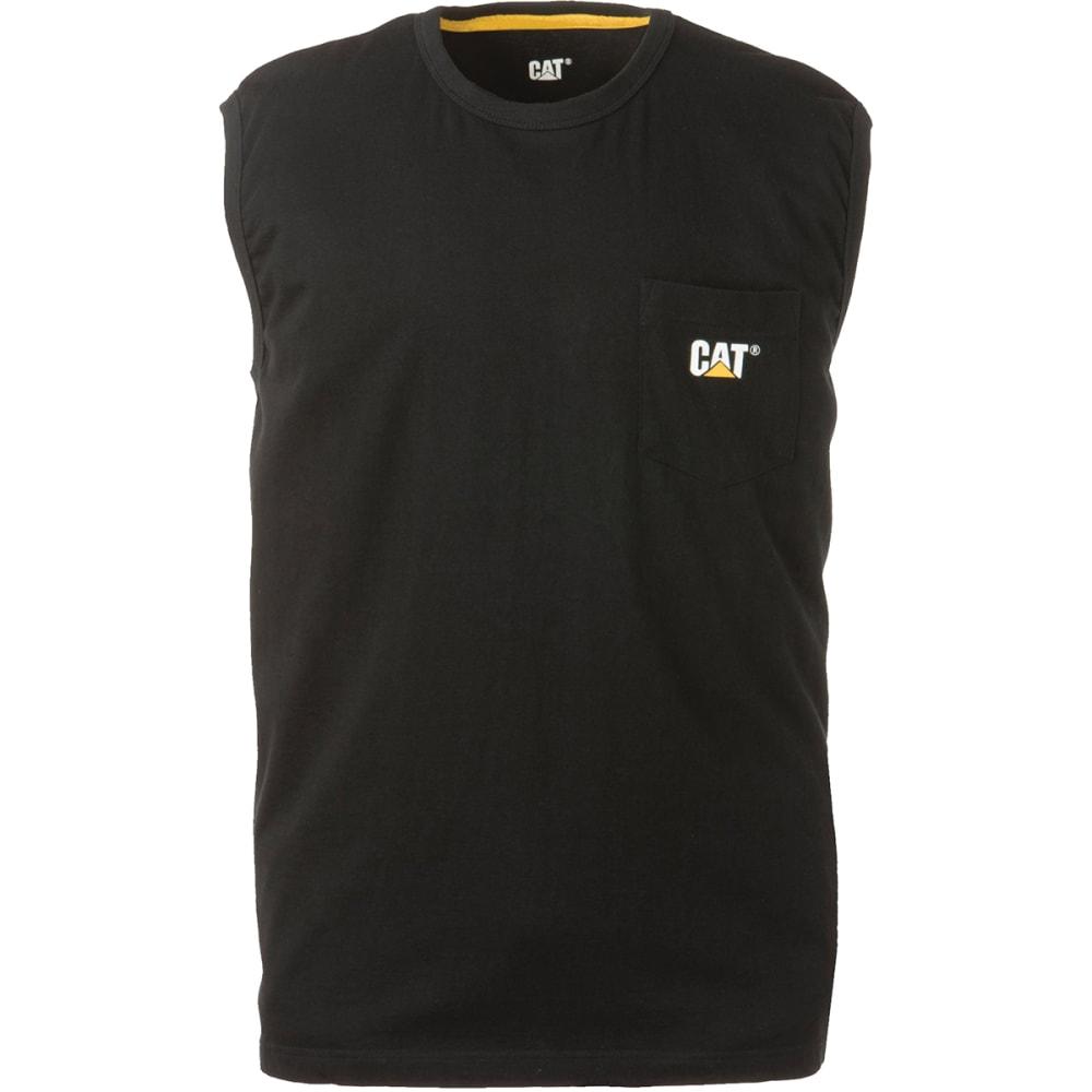 CATERPILLAR Men's Trademark Pocket Sleeveless Tee - Black, M