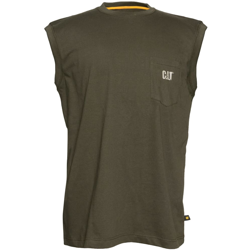 CATERPILLAR Men's Trademark Pocket Sleeveless Tee M