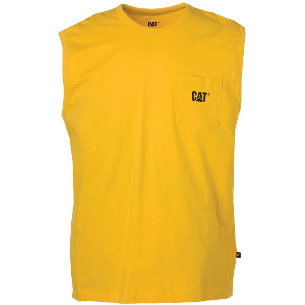 CATERPILLAR Men's Trademark Pocket Sleeveless Tee - 555 YELLOW
