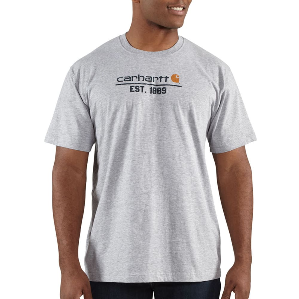 CARHARTT Men's Logo 1899 T-Shirt - HEATHER GREY