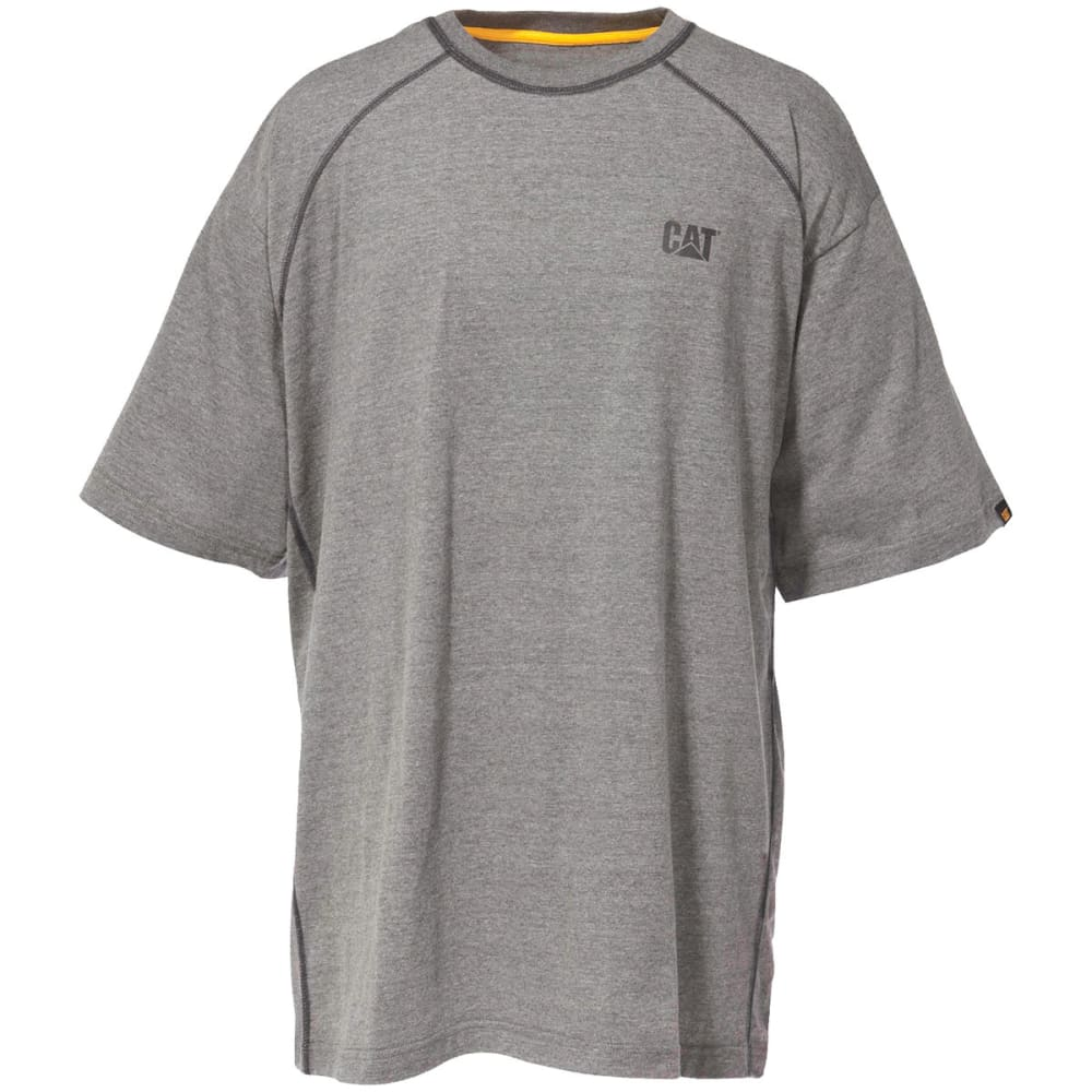 CATERPILLAR Men's Performance Raglan Short-Sleeve Tee - 001 HEATHER GRAY