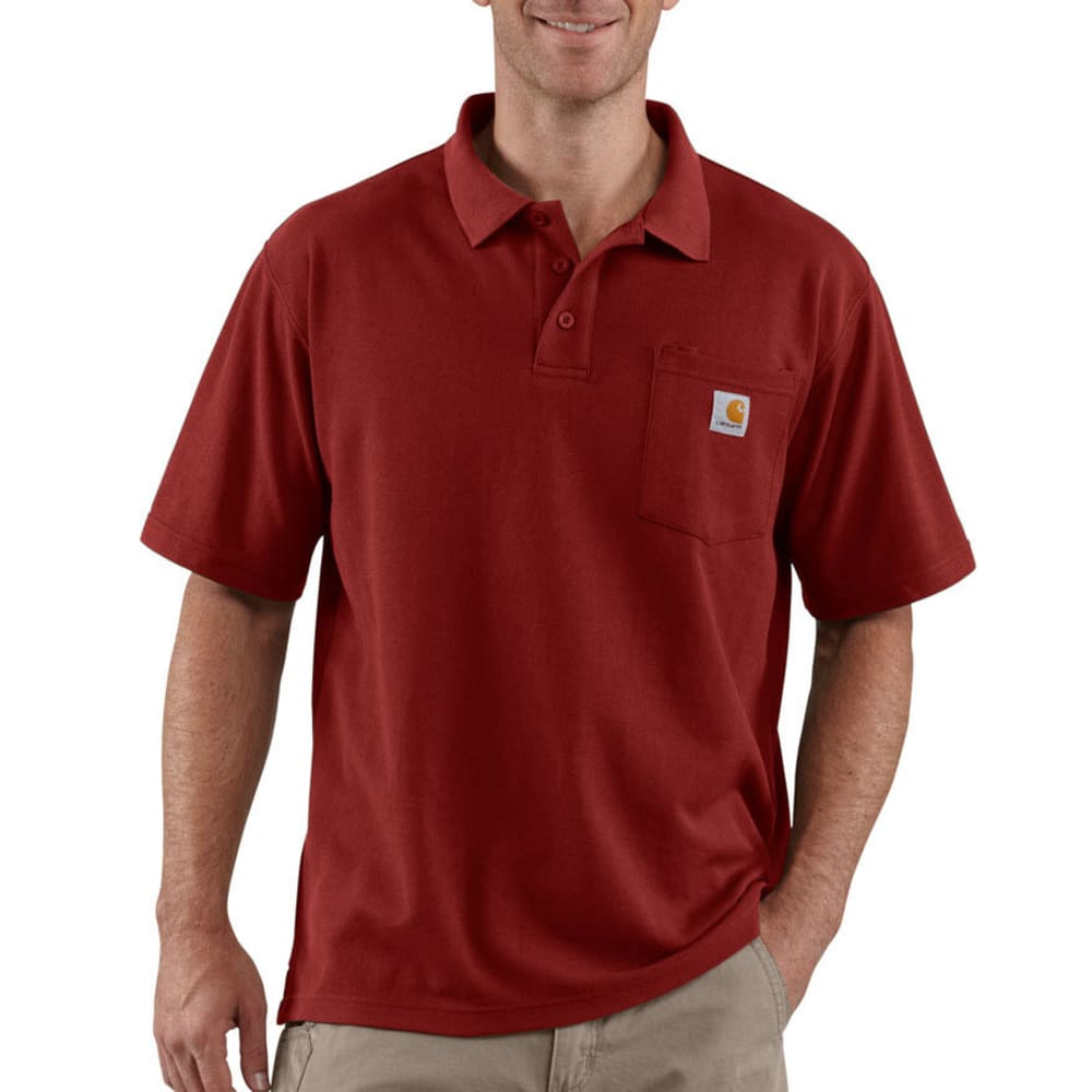 CARHARTT Men's Contractor's Work Pocket Polo - DARK RED