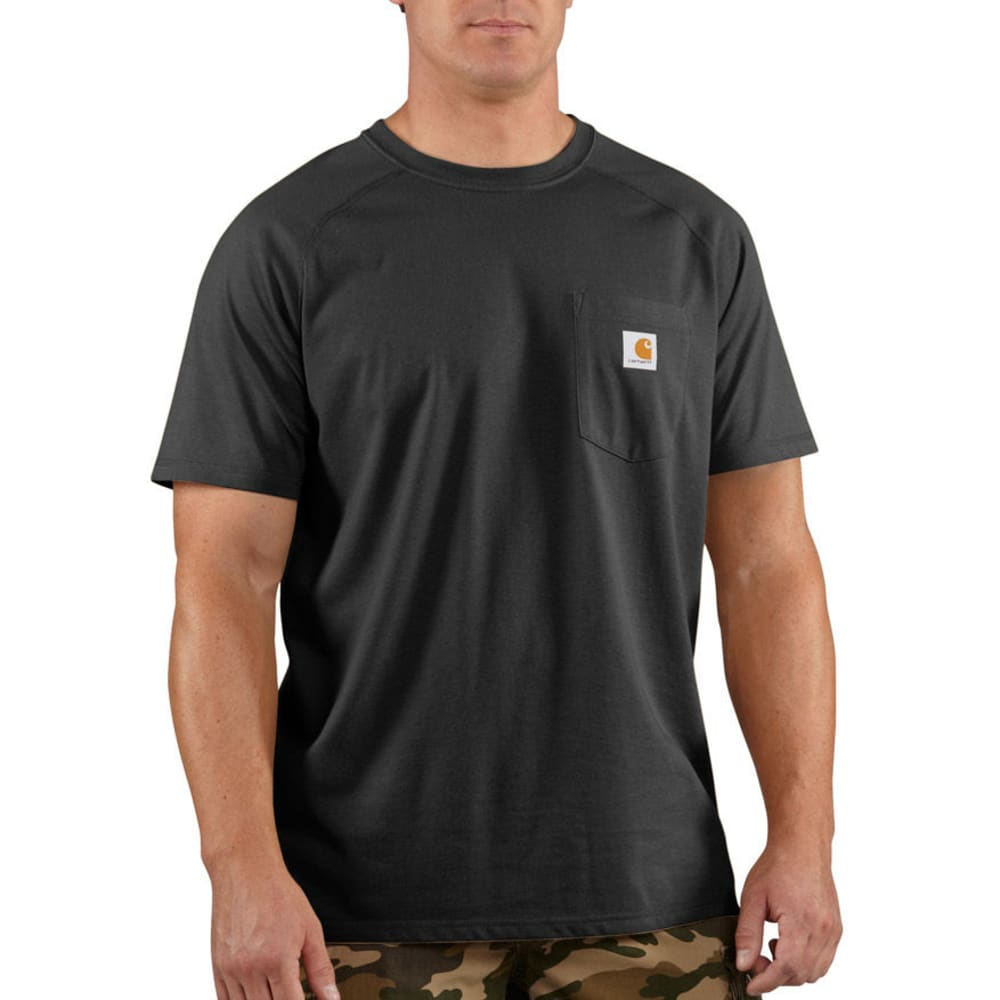 Carhartt Men's Force Delmont Short-Sleeve Tee - Black, M