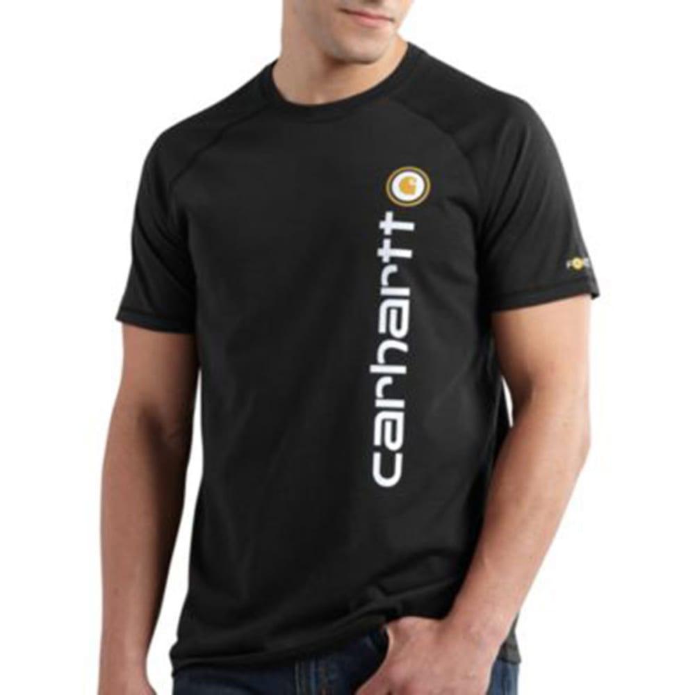 CARHARTT Men's Force Short-Sleeve Delmont Graphic Shirt - BLACK