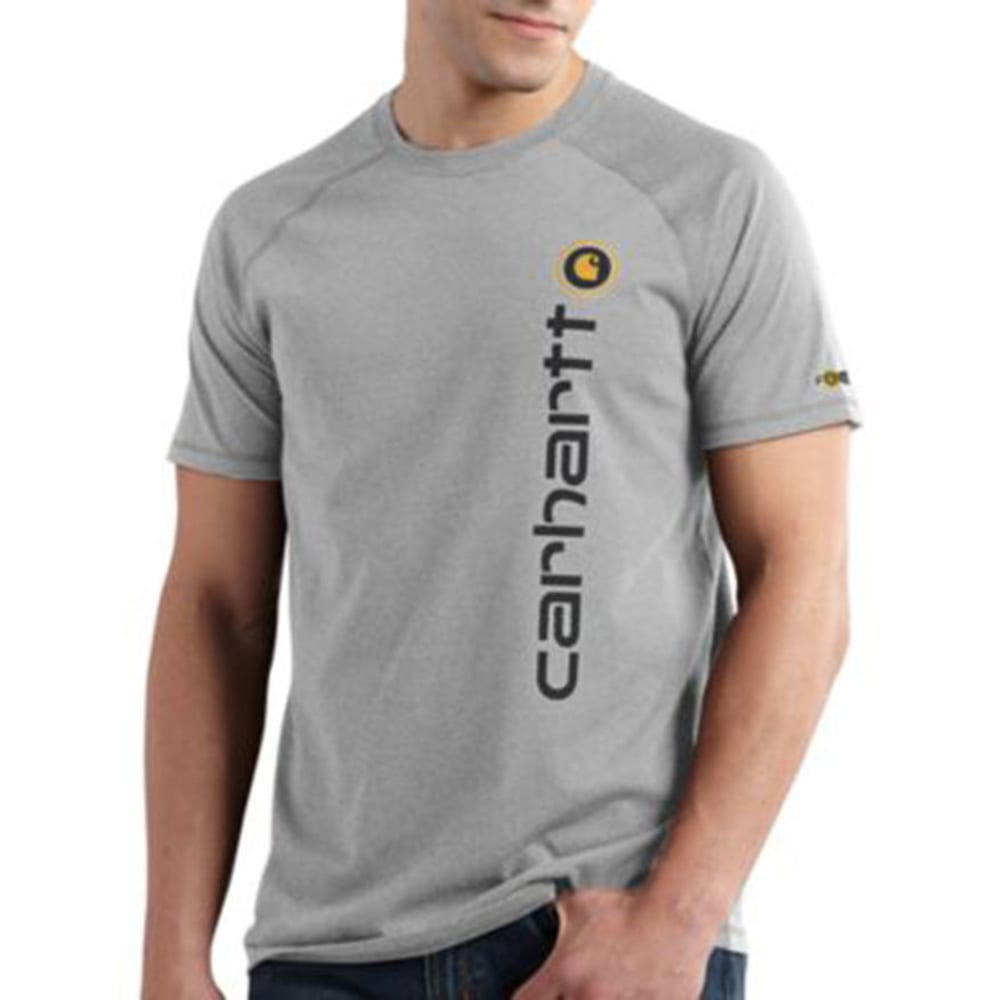 CARHARTT Men's Force Short-Sleeve Delmont Graphic Shirt - HEATHER GREY