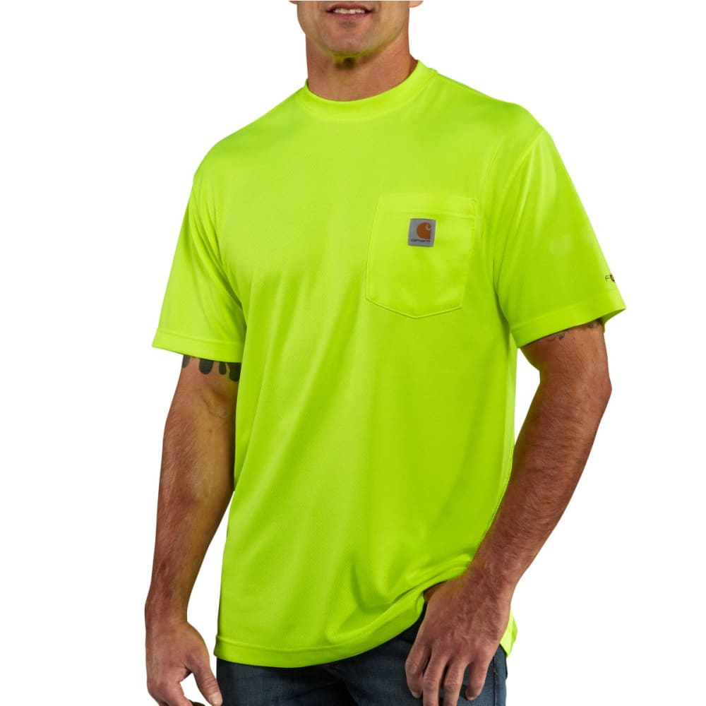 CARHARTT Men's Force Color Enhanced Short-Sleeve T-Shirt - BRIGHT LIME