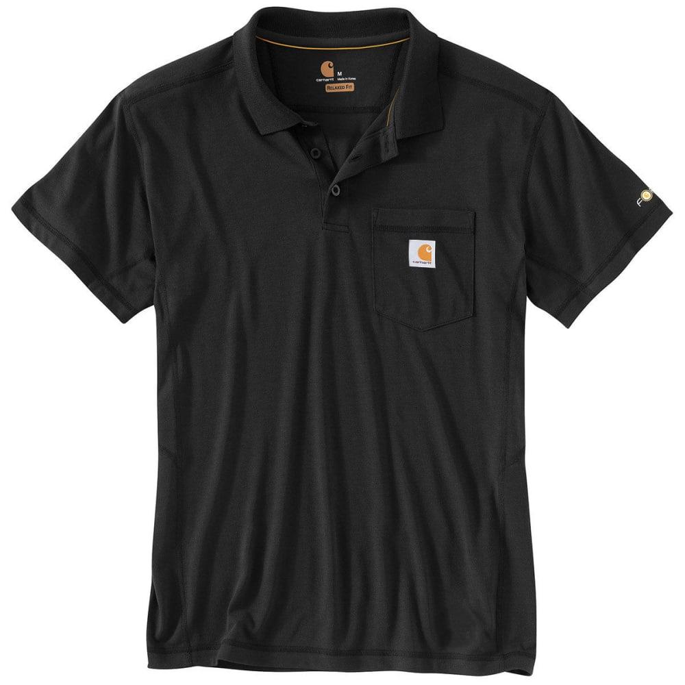 CARHARTT Men's Force Rugged Flex® Polo Shirt - BLACK