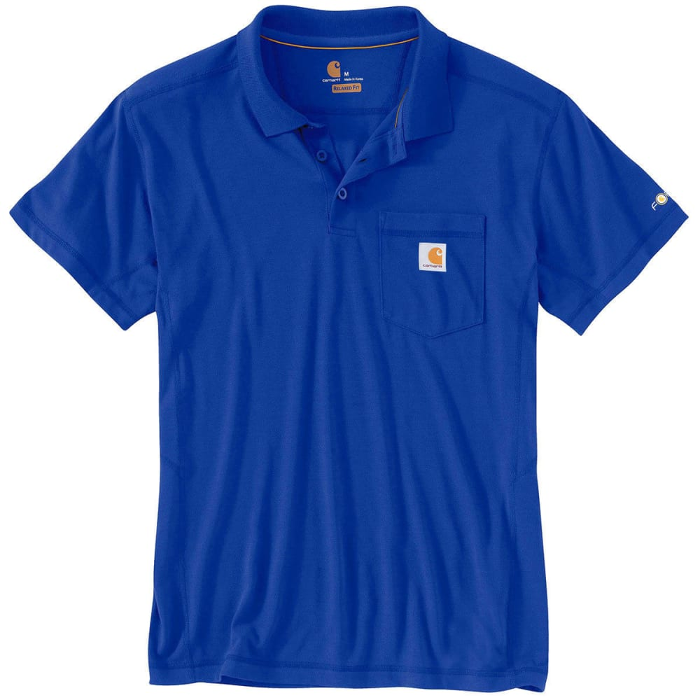 CARHARTT Men's Force Rugged Flex Polo Shirt - ULTRA BLUE