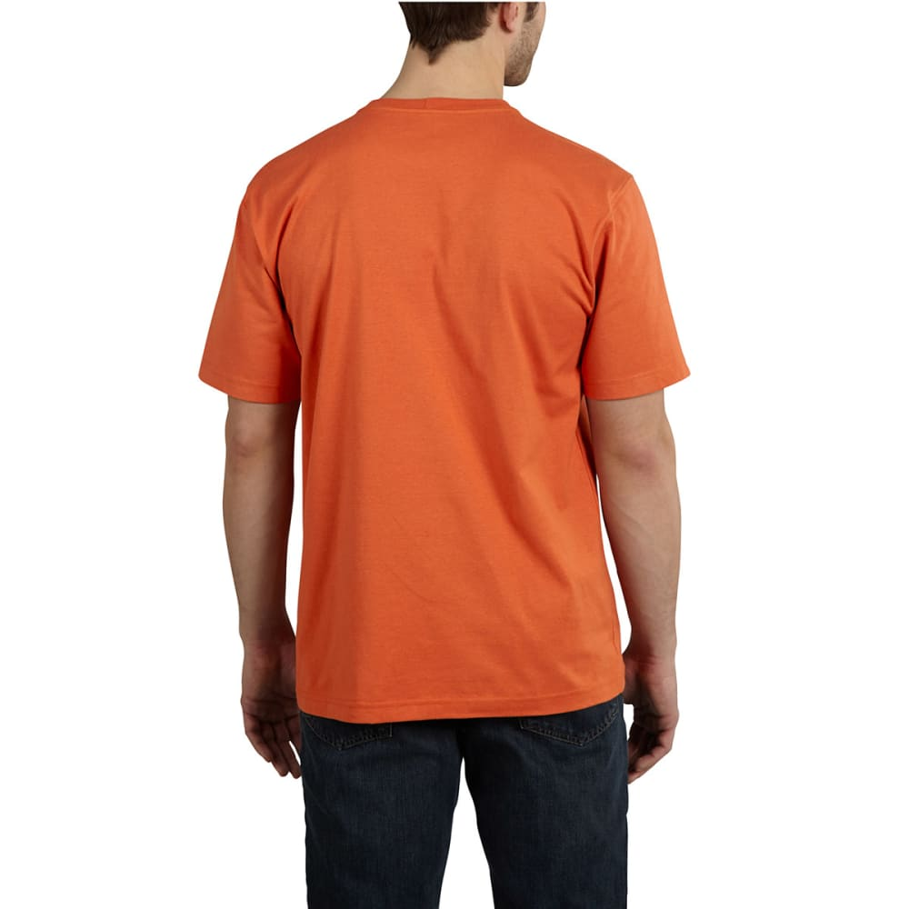 "CARHARTT Men's Maddock Graphic Rugged ""C"" T-Shirt - RUST"