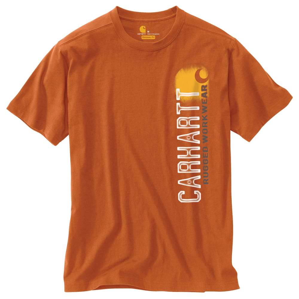 "CARHARTT Men's Maddock Graphic Rugged ""C"" T-Shirt - RUST"