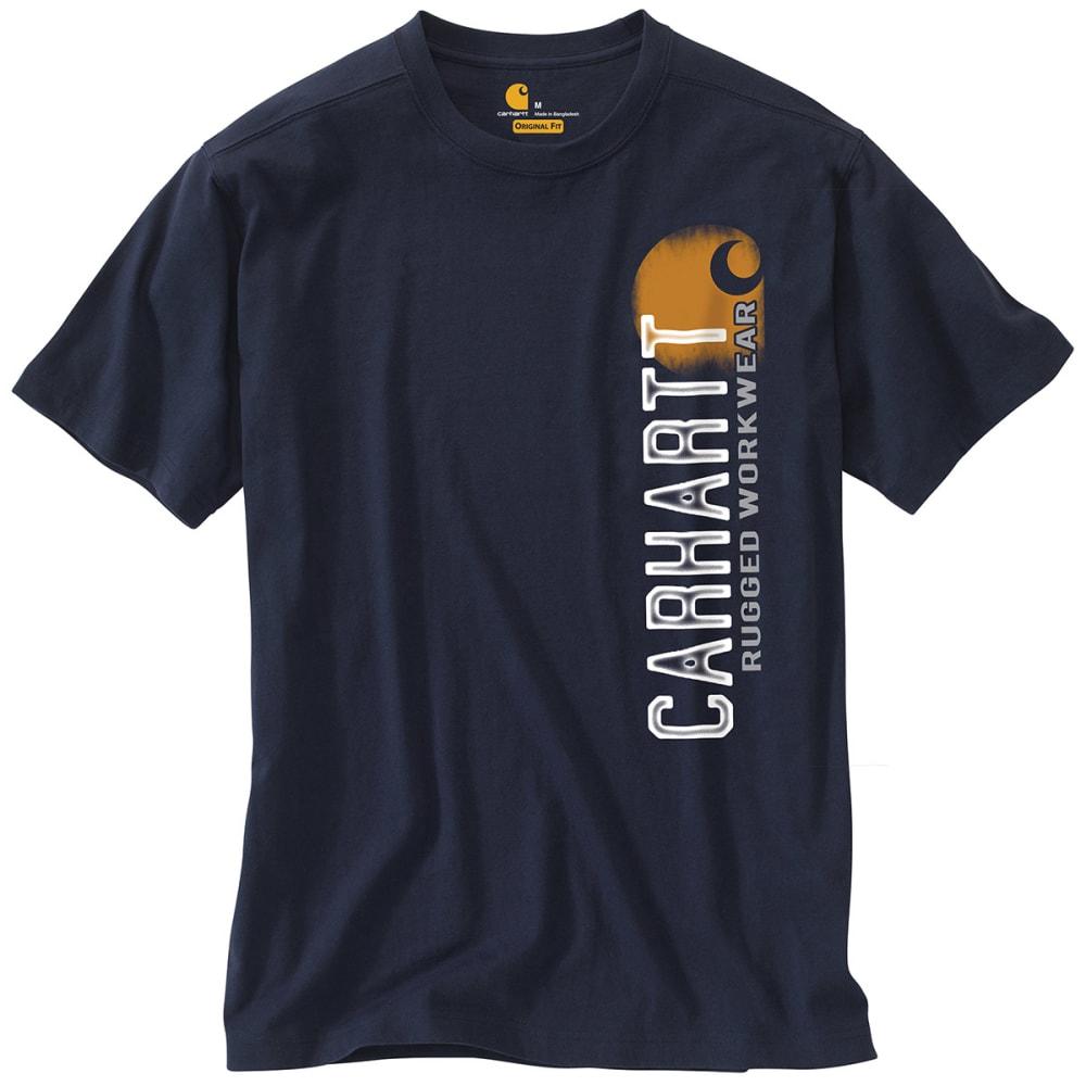 "CARHARTT Men's Maddock Graphic Rugged ""C"" T-Shirt - INDIGO/GREY"