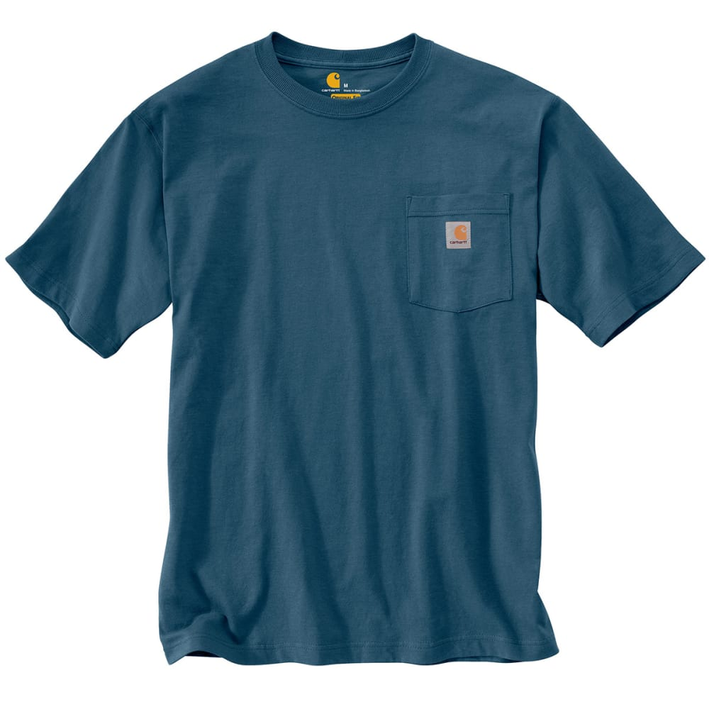 CARHARTT Men's Workwear Graphic Dogs T-Shirt - STREAM BLUE