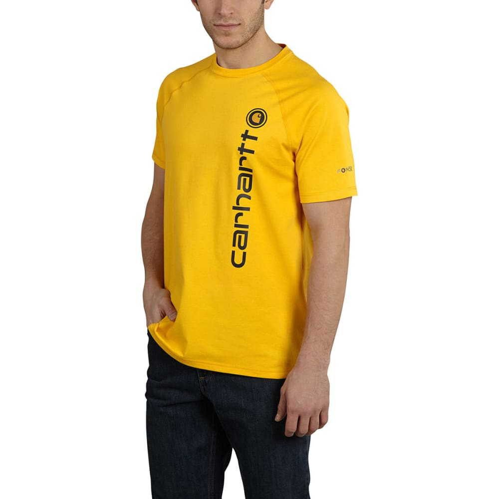 CARHARTT Men's Force Delmont Tee - MUSTARD