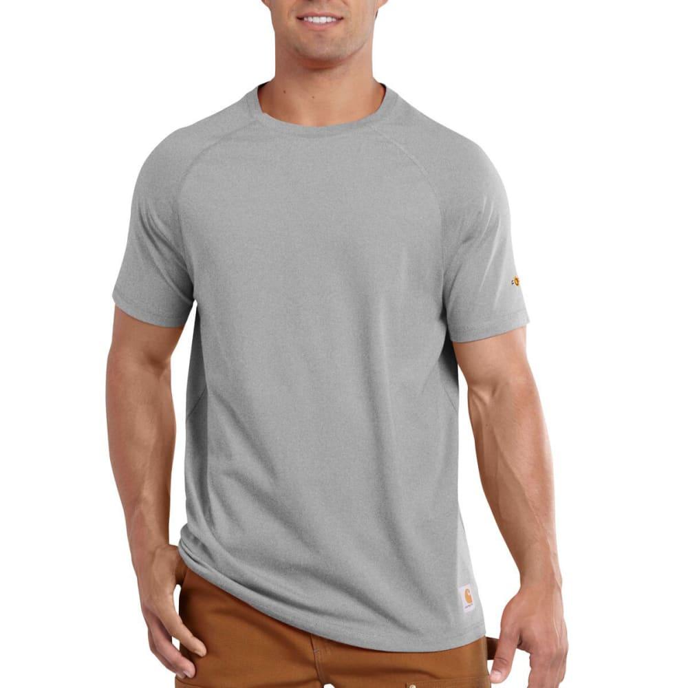 CARHARTT Men's Force® Cotton Delmont Non-Pocket Short-Sleeve Shirt - HEATHER GREY