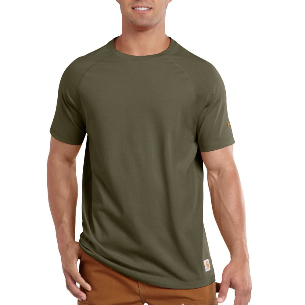 CARHARTT Men's Force® Cotton Delmont Non-Pocket Short-Sleeve Shirt - MOSS