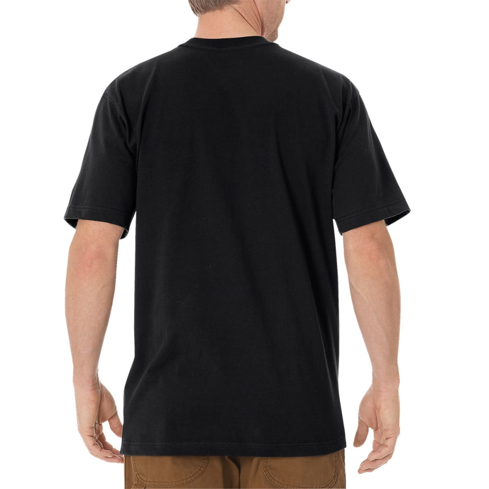 DICKIES Men's Short Sleeve Heavyweight Crew Neck Tee - BLACK