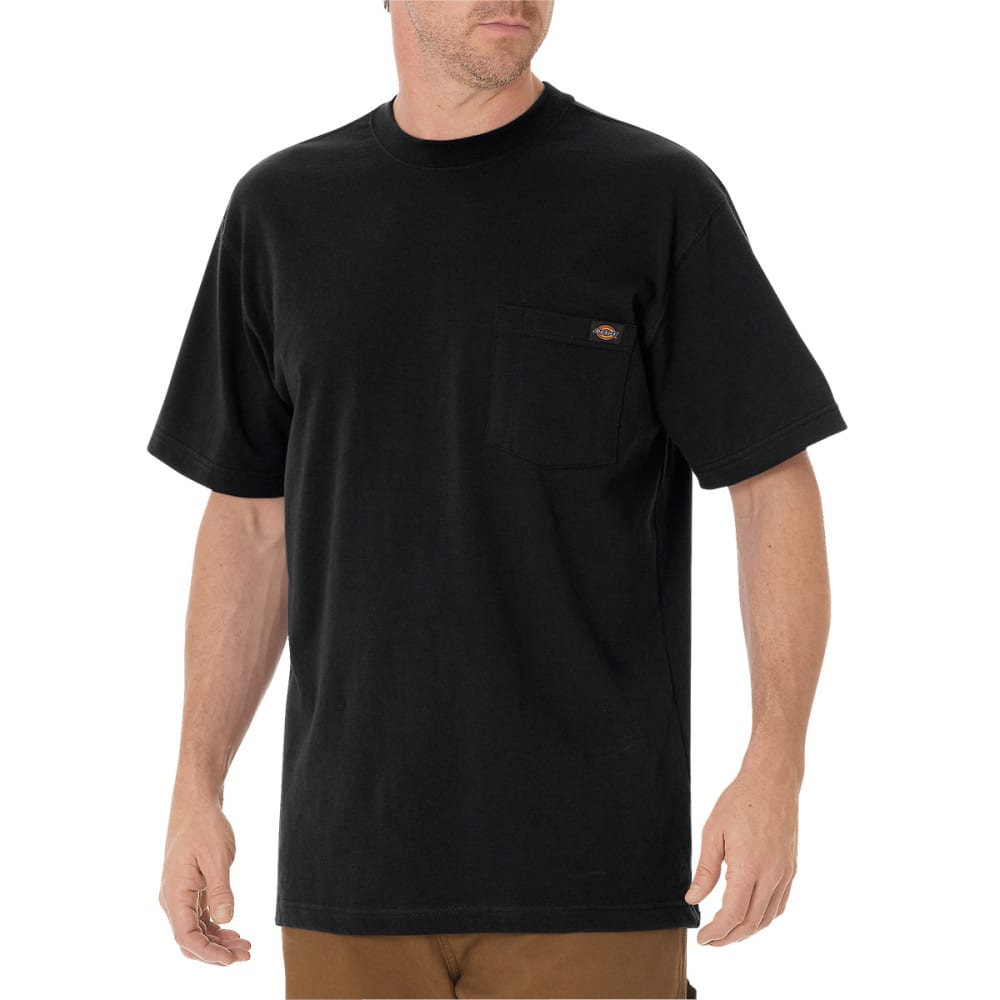 DICKIES Men's Short Sleeve Heavyweight Crew Neck Tee - BLACK
