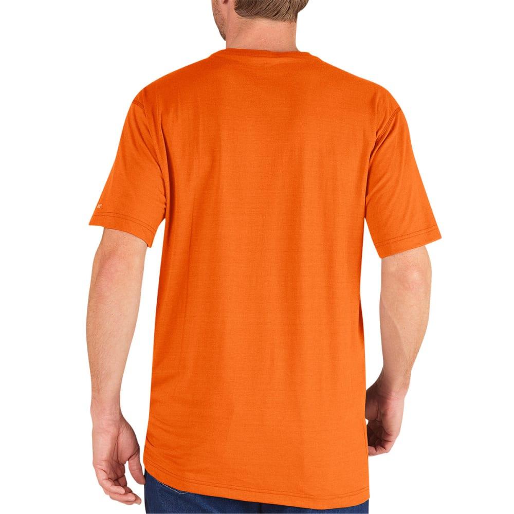 DICKIES Men's Performance Short Sleeve drirelease Tee - NEON ORANGE