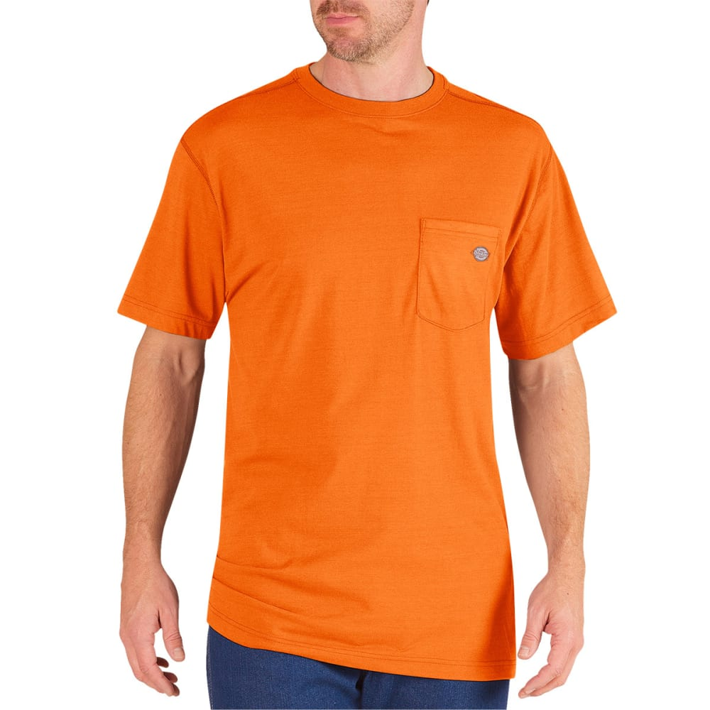 DICKIES Men's Performance Short Sleeve drirelease® Tee - NEON ORANGE