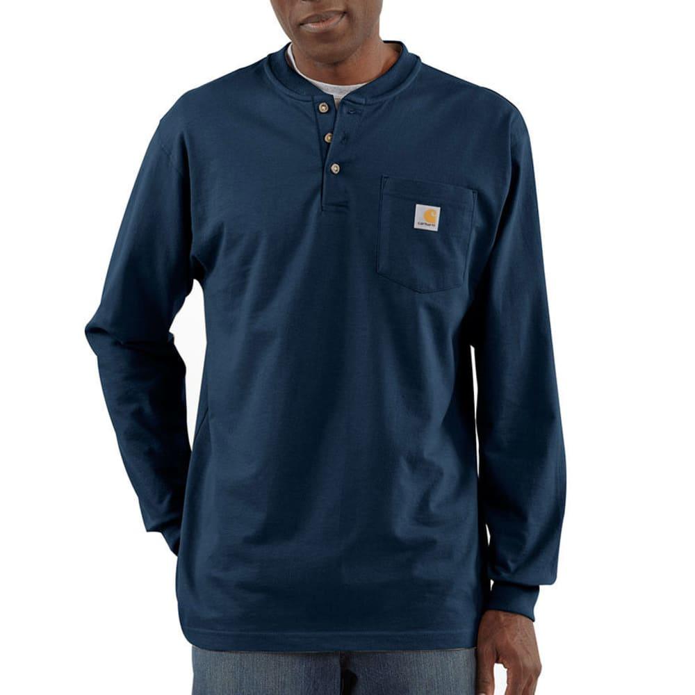 CARHARTT Men's Workwear Pocket Henley, L/S - NVY NAVY