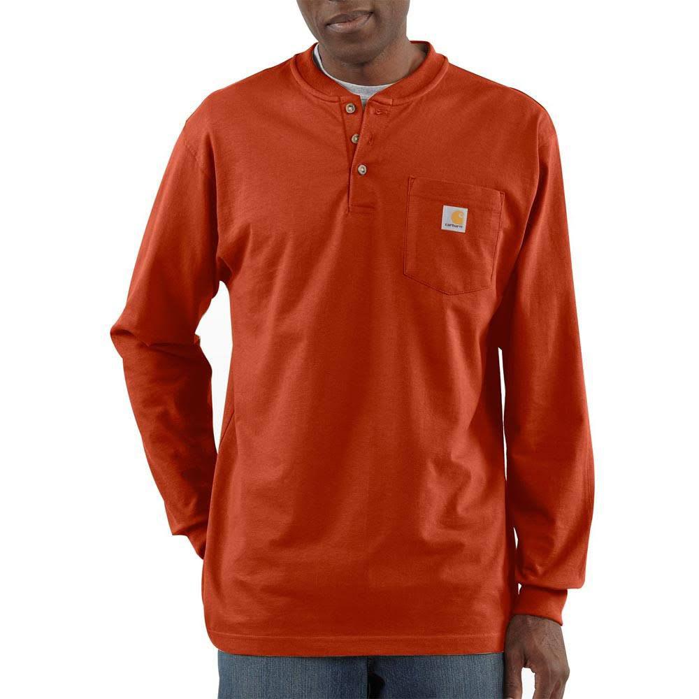 CARHARTT Men's Workwear Pocket Long-Sleeve Henley S