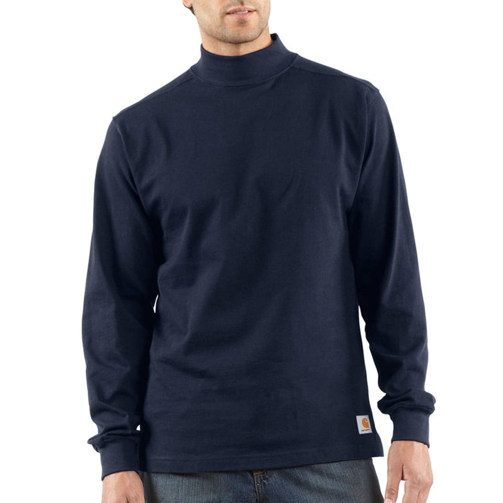 CARHARTT Men's Mock Turtleneck - NAVY