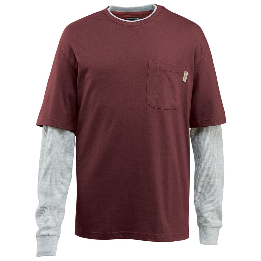 WOLVERINE Men's Miter Tee - 612 OXBLOOD
