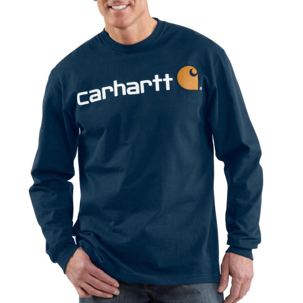 CARHARTT Men's Logo T-Shirt - NAVY