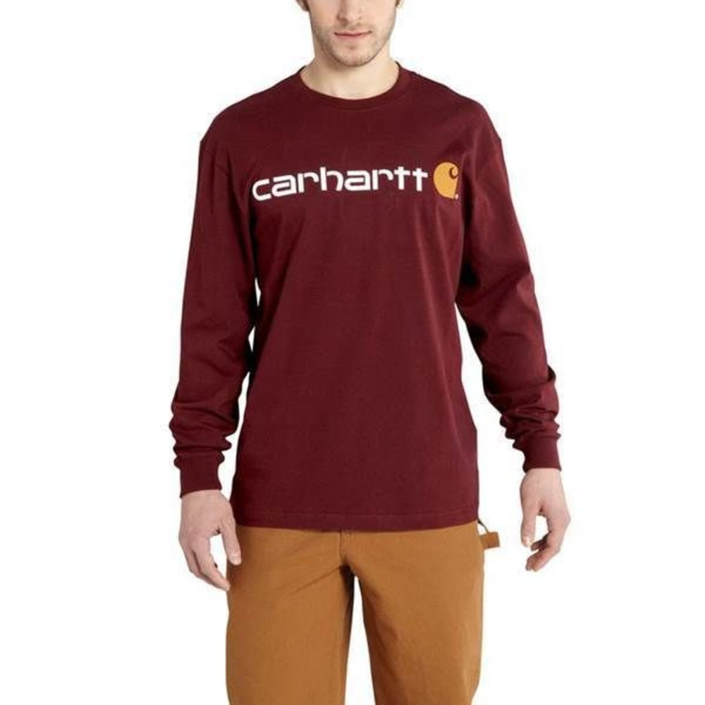 CARHARTT Men's Logo T-Shirt - DROP PRT PORT