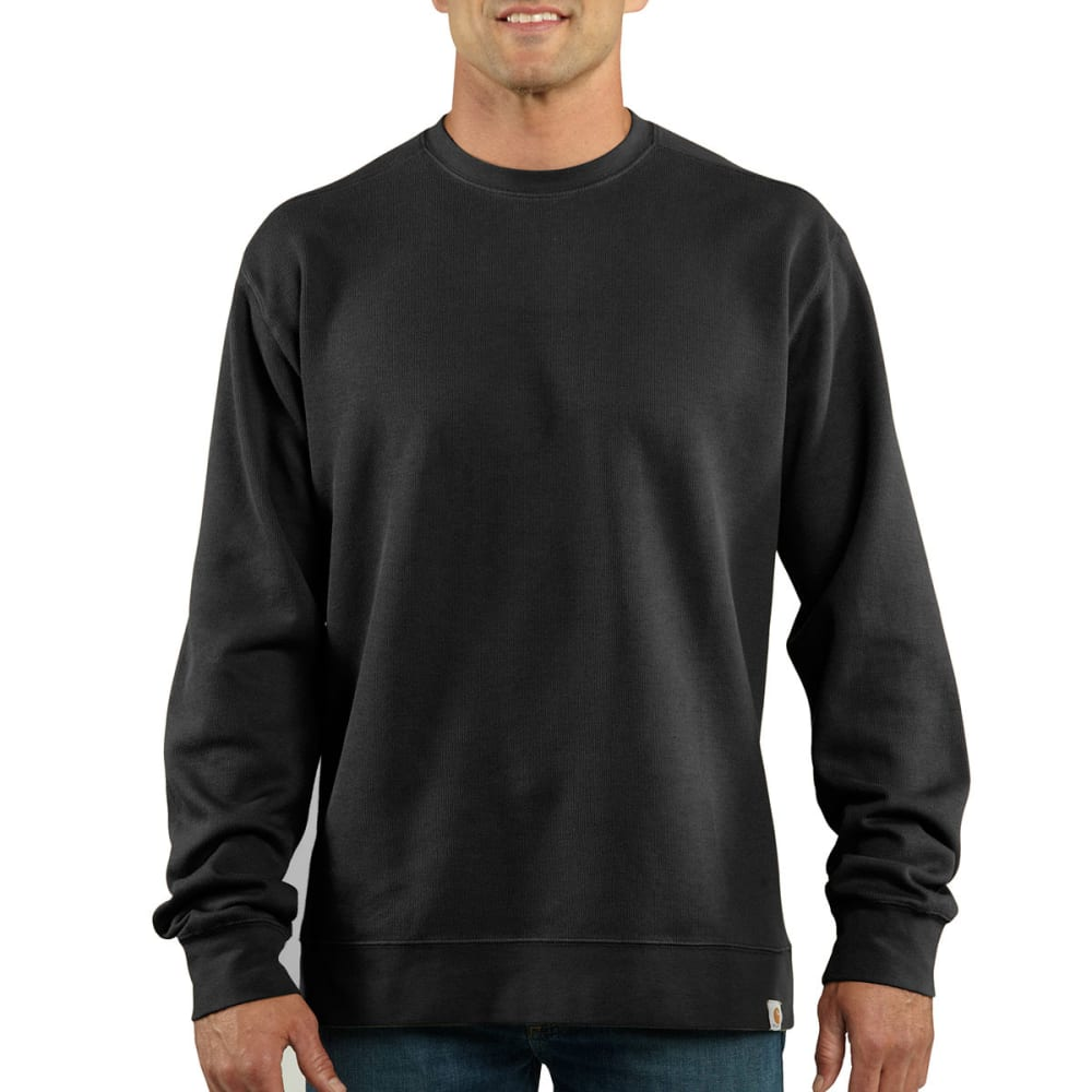 CARHARTT Men's Crewneck Sweater Knit - BLACK