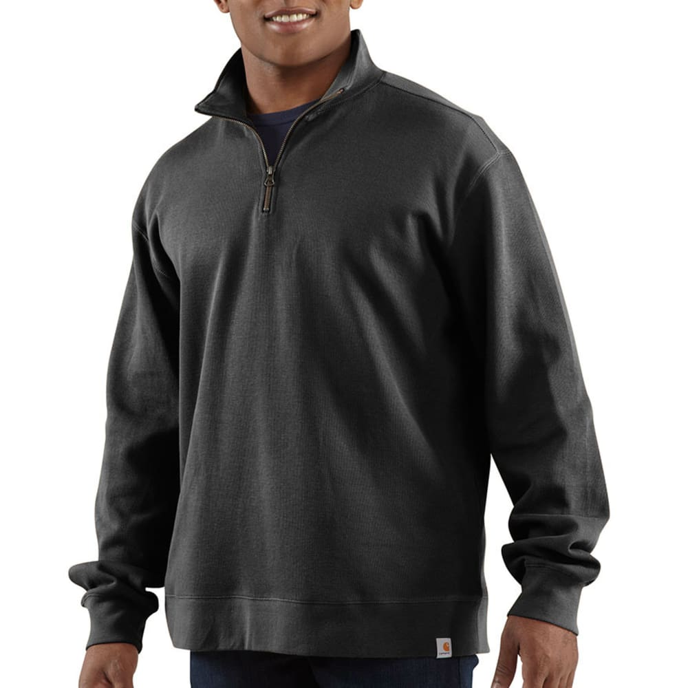 CARHARTT Men's Sweater Knit Quarter-Zip - BLACK