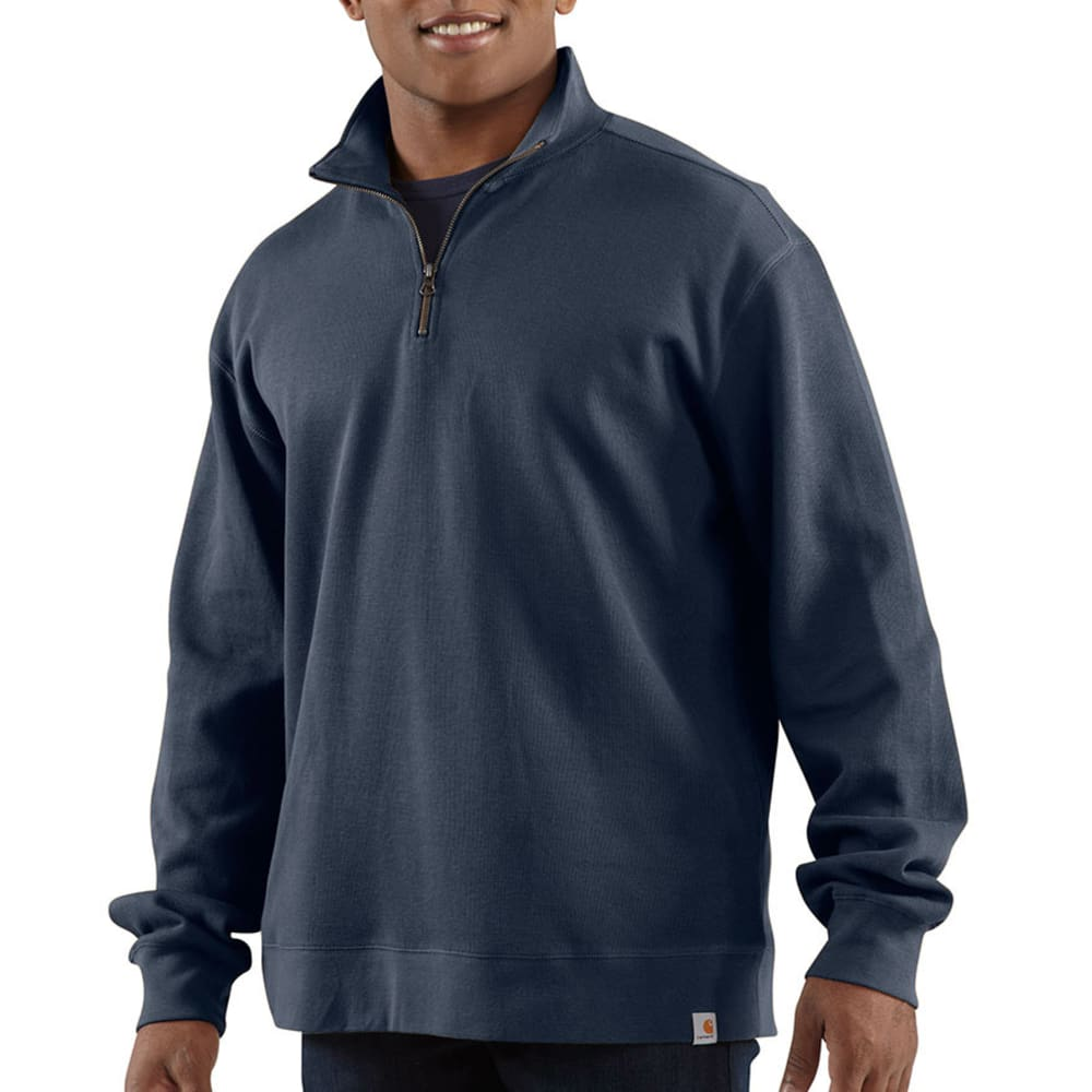 CARHARTT Men's Sweater Knit Quarter-Zip - NAVY